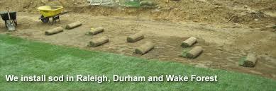 Sod Estimate by Raleigh Durham Sod Installation Forest Nc Sod Mulch