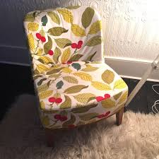 Ikea Stockholm Armchair Ikea Stockholm Easy Chair Armchair Leaf Pattern Fabric And