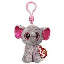 amazon ty beanie boos specks grey speckled elephant key
