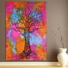 dye sun wall hanging tree of sun tapestry hippie wall