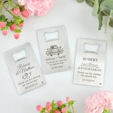 wedding bottle openers engraved credit card bottle opener wedding favour wedding