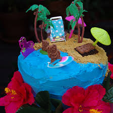 within the kitchen a day at the beach cake hawaiian themed party 3