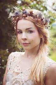 hair wreath dried flower crown bridal flower hair wreath acorn and berry