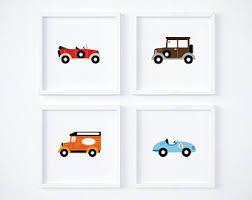 Car Nursery Decor Boys Room Cars Etsy