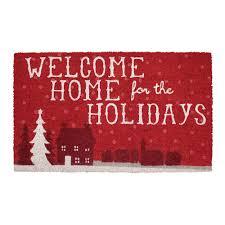 outdoor christmas rugs u0026 doormats indoor christmas decorations