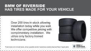 bmw tire specials service specials auto repair near moreno valley bwm of riverside