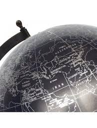 world globe home decor big decorative rotating globe world black ocean geography earth