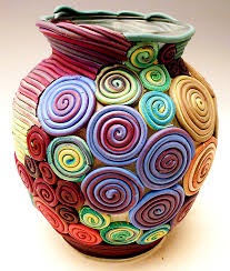 Clay Vase Painting Polymer Clay Alene Sirott Cope
