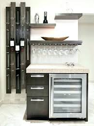 kitchen cabinet with wine glass rack dramatic kitchen makeover wall storage bar areas and wine rack wine