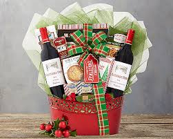 gift baskets christmas merry christmas wine selection gift basket at gift