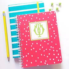 polka dot stationery personalized notebook monogram spiral notebook vintage