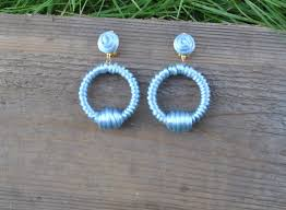 hoop la earrings hoop earrings hoop la la de ravenel hoop silk