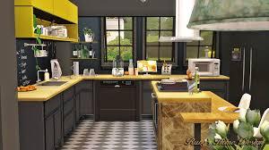 sims 3 modern kitchen sims3 mellow yellow ruby u0027s home design