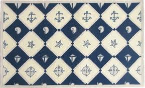 Nautical Area Rugs Amazing Nautical Area Rugs Navy Blue Anchors Rug Or Bath In Anchor
