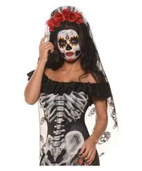 day of the dead headband day of the dead black veil headband costume accessories