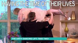 couple recreate that dirty dancing lift that left them in a u0026e live