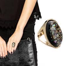 black rock rings images Migga elegant green semi precious stone ring for women ladies rose jpg