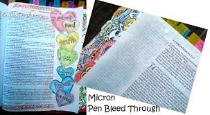 pens that write on black paper best bible journaling supplies what bleeds what doesn t and how bible journaling supplies micron pen bleed through