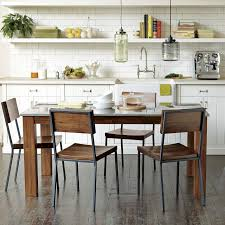 Rustic Dining Table And Chairs Rustic Dining Chair West Elm