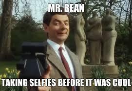 Selfie Meme Funny - mr bean taking selfies before it was cool funny mr bean meme image