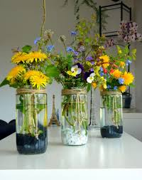 Mason Jar Vases Rustic Flower Vases From Mason Jars