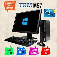 pc bureau avec ecran ordinateur de bureau lenovo ecran 17 pouce duo 2go ram 80go