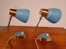 mid century blue nightstand lights set of 2 for sale at pamono