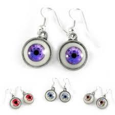 strange earrings creepy jewelry glo0bule