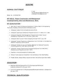 Diploma In Civil Engineering Resume Sample by Civil Engineering Resume Skills Corpedo Com
