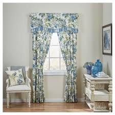Waverly Curtain Panels Waverly Curtain Panel Pair Blue White Yellow Floral Room