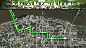 Quad Cities Map Route For 2017 Qc St Patrick U0027s Day Parade