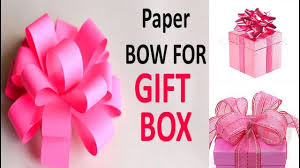 paper gift bows diy paper gift bows diy how to make a gift box easy kids
