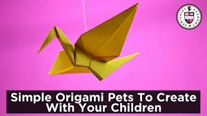 Origami Pets - simple origami pets to create with your children