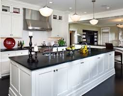 modern black and white kitchens great black granite countertops with white cabinets and black