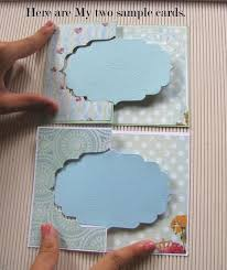 tutorial scrapbook card crafters corner flip card tutorial using partial die cutting