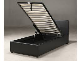 Ottoman Bed Black 3ft Single Storage Bed Black White Or Pink Ottoman Bed