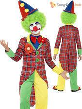 age 8 16 boys krazed jester costume mask halloween fancy dress clown age 8 9 ebay