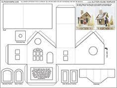printable model house template little glitter houses pattern you may print the structure pattern