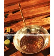 ustensiles de cuisine en cuivre poêle ronde en cuivre martelé ustensiles de cuisine en cuivre