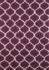 Modern Purple Rugs Modern Purple Trellis Shaggy Moroccan Carpet Contemporary Soft