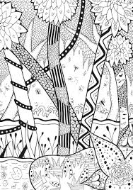 forest zentangle rachel zentangle coloring pages for adults