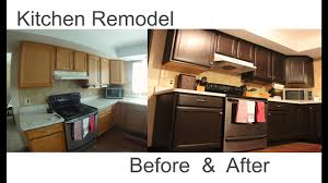 How Do I Refinish Kitchen Cabinets Kitchen Cabinets Easy Refinish And Remodel Youtube