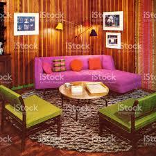 vintage livingroom stock vector art 475462984 istock