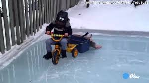 zamboni kid won u0027t stand for scratched up ice rink youtube