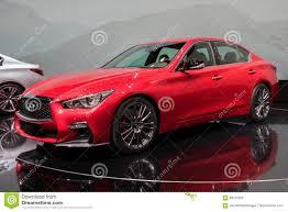infiniti van de nieuwe auto van infiniti van 2018 q50 redactionele afbeelding