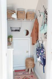 mudroom in a closet 100 room makeover reveal the home i create