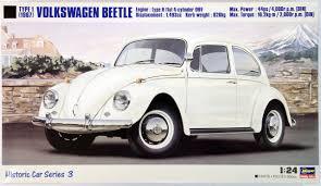 volkswagen type 1 hasegawa hc 03 volkswagen beetle type 1 1967 1 24 scale kit