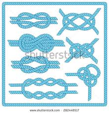 Border Designs For Birthday Cards Sailor Knot Set Nautical Infinity Stock Vector 282448517