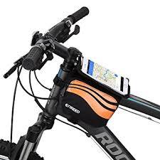 amazon black friday mountain bike deals amazon com enkeeo top tube bicycle bag bike pouch 5 5 inch