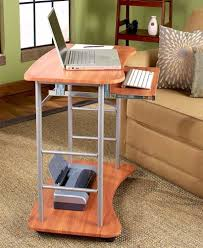 portable laptop cart workstation computer stand on wheels portable